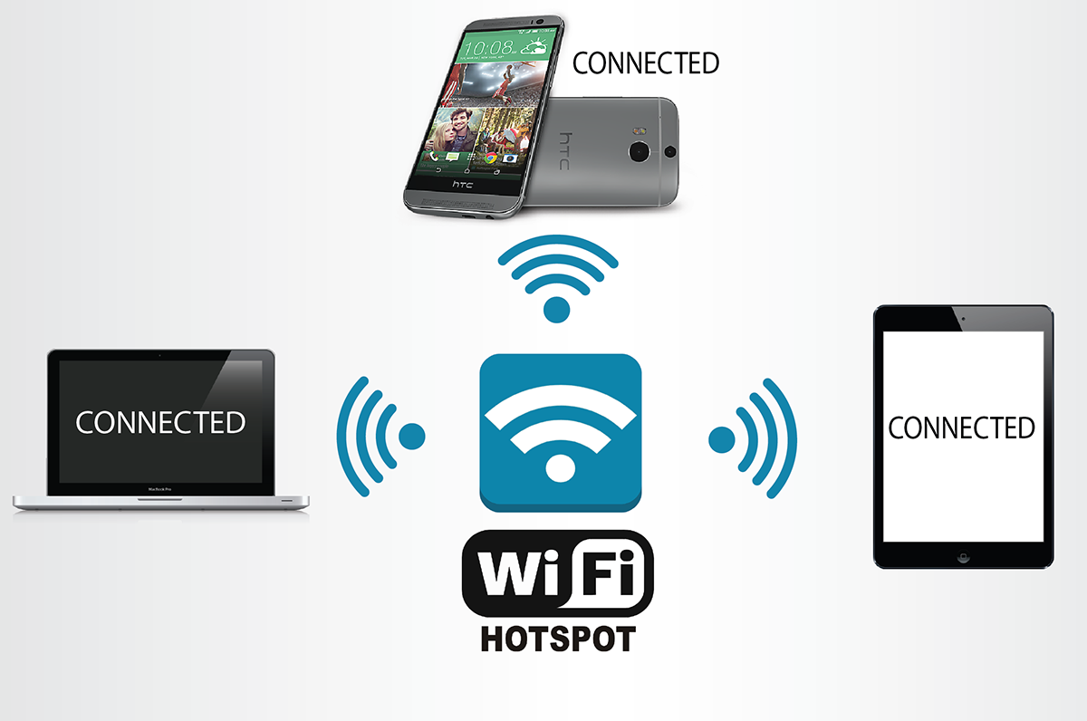 how to connect android phone to pc via wifi hotspot.