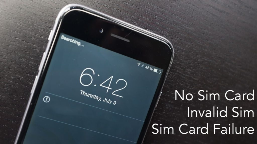 Why does my phone say no sim card installed